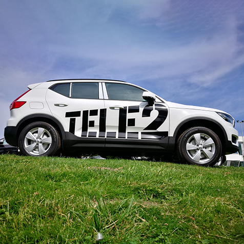 Autobelettering van Tele2